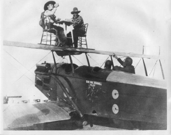 Bob McDougall Al Johnson Ken Fronty Nichols plane stuntmen