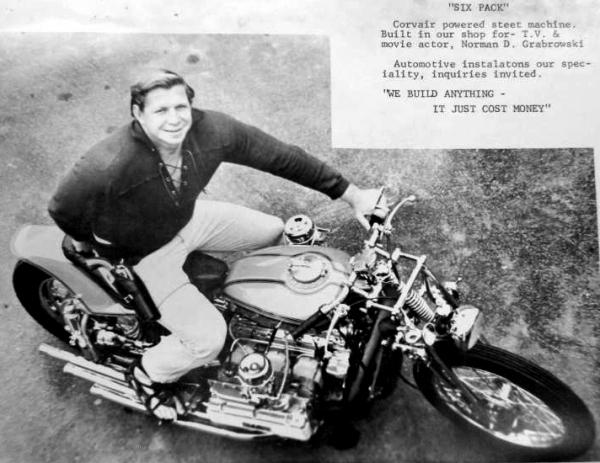 NORM GRABOWSKI CUSTOM CORVAIR MOTORCYCLE