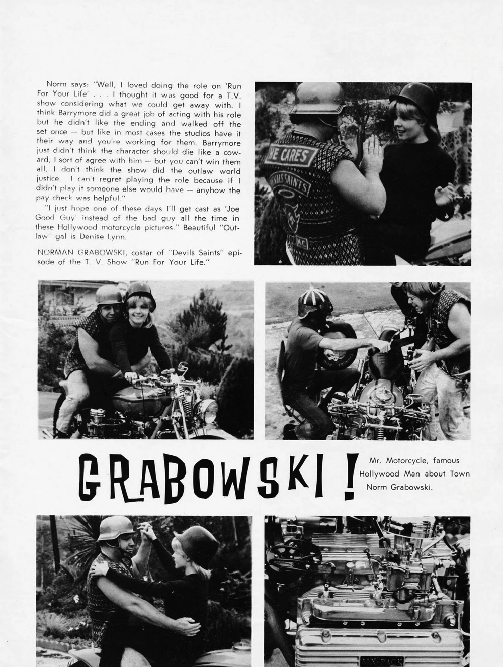 NORM GRABOWSKI'S CUSTOM CORVAIR BIKE   SICK-AS-HELL SIX