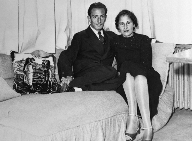 Salvador Dali and Gala Eluard in Dali's Studio