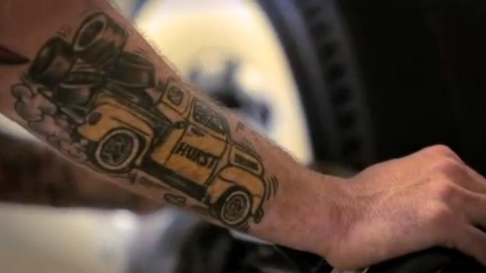 tattoo hurst racing tires ray gordon