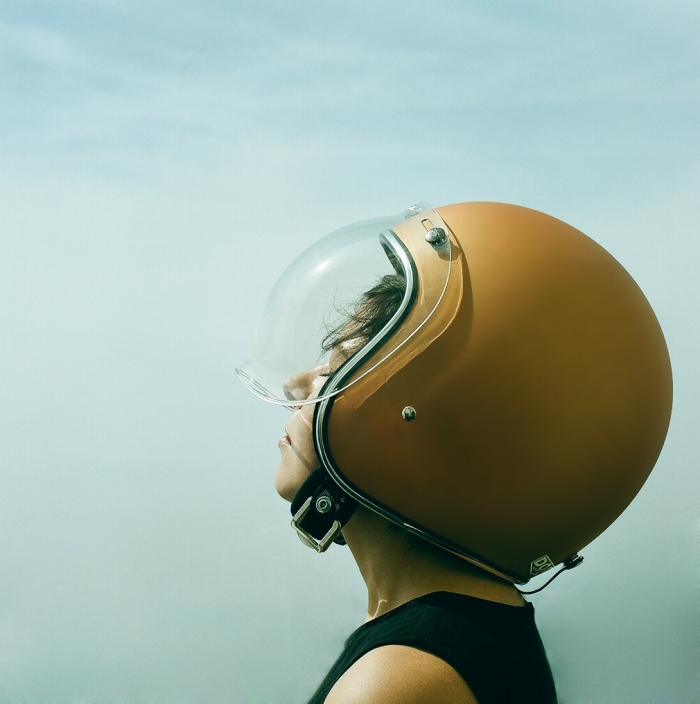 Lana MacNaughton motorcycle helmet