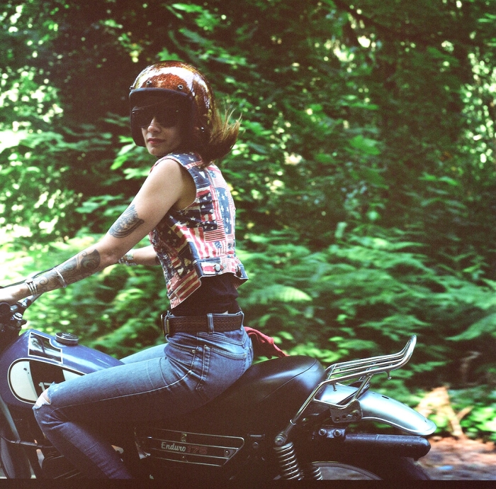 Lana MacNaughton motorcycle photo