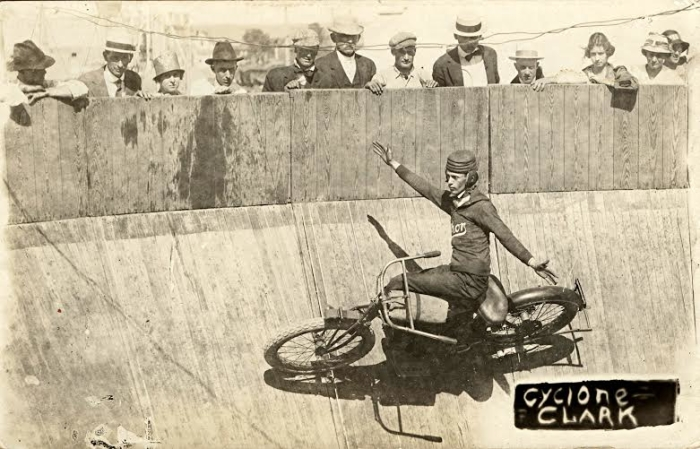 cyclone clark motorcycle wall of death
