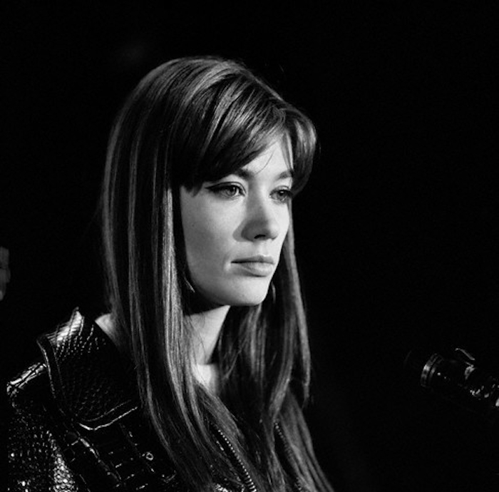Singer Francoise Hardy at Olympia Hall in Paris
