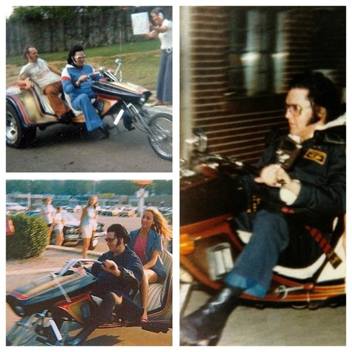 ELVIS PRESLEY ED ROTH TRIKE MOTORCYCLE PHOTO