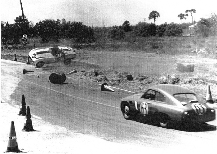 bob goldrich 1957 sebring race crash