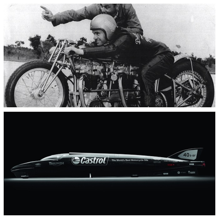 castrol rocket triumph streamliner motorcycle