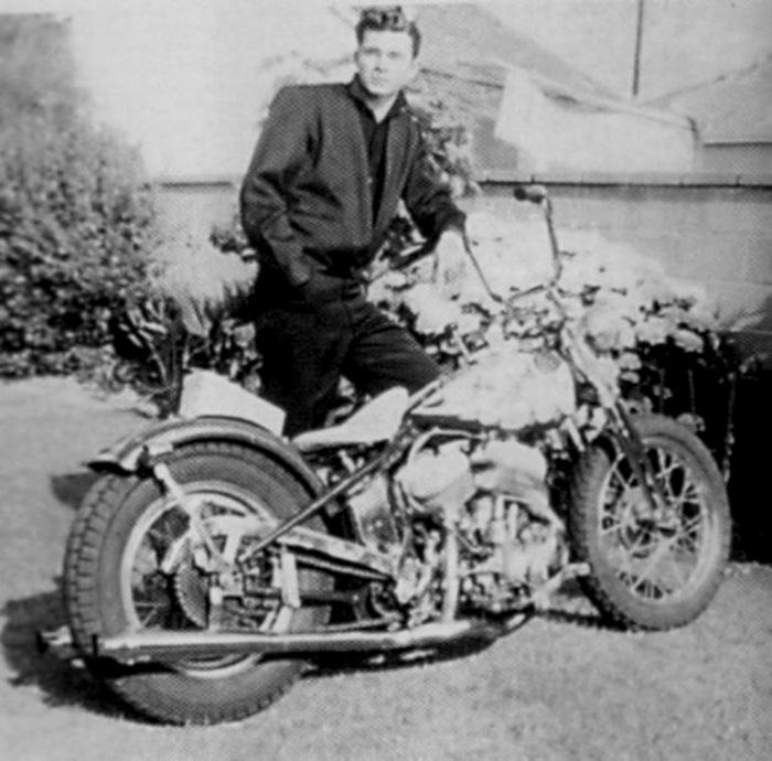 DICK DALE HARLEY MOTORCYCLE FLATHEAD 1941