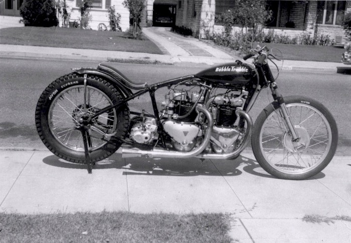 DUBBLE TRUBBLE TRIUMPH DRAGSTER MOTORCYCLE PHOTO