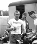 "1964, Erfurt, Germany -- Steve McQueen from the United States took part in 1964 with the number ""278"" on his Triumph at the international motorcycle race ""Six Days"", Photo, Dieter Demme"