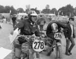 "1964, Erfurt, Germany -- Steve McQueen from the United States took part in 1964 with the number ""278"" on his Triumph at the international motorcycle race ""Six Days"". Photo, Dieter Demme"