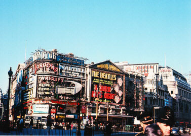 PICCADILLY CIRCUS- LONDON 1964 Photo courtesy of Bud and Dave Ekins Collection