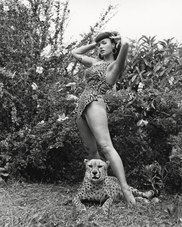 Bettie page With Cheetah bunny yeager