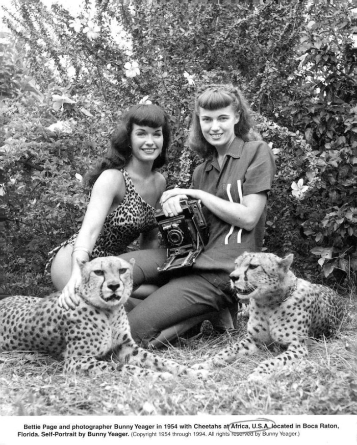 bunny yeager and bettie page cheetahs