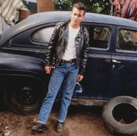 Johnny Depp Standing in Frong of Vintage Automobile