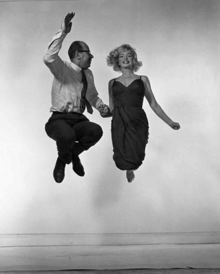 philippe halsman marilyn monroe  jump photo 1954
