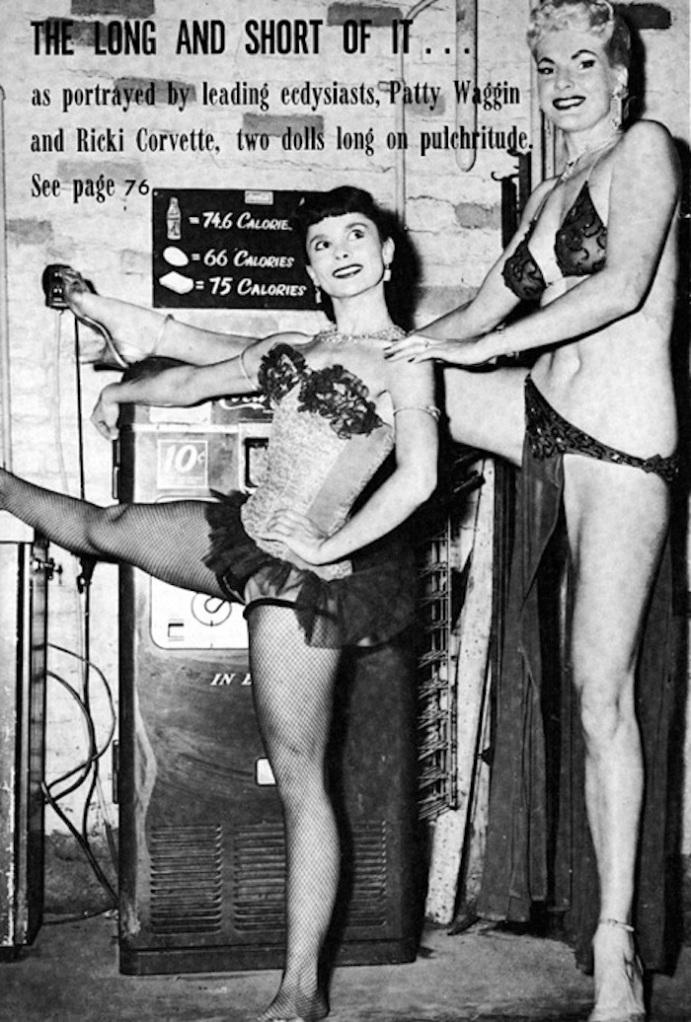 patti Waggin burlesque stripper vintage photo