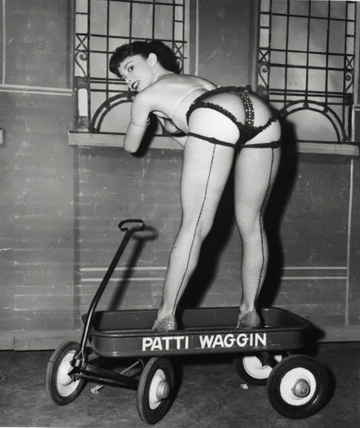patti waggin burlesque stripper