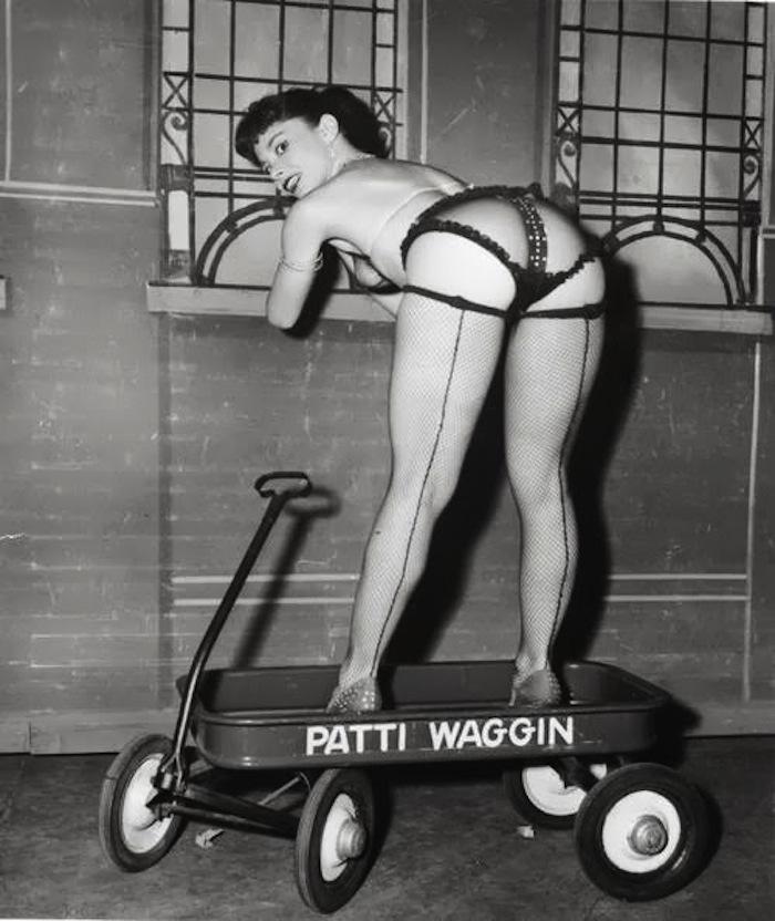 patti waggin burlesque stripper
