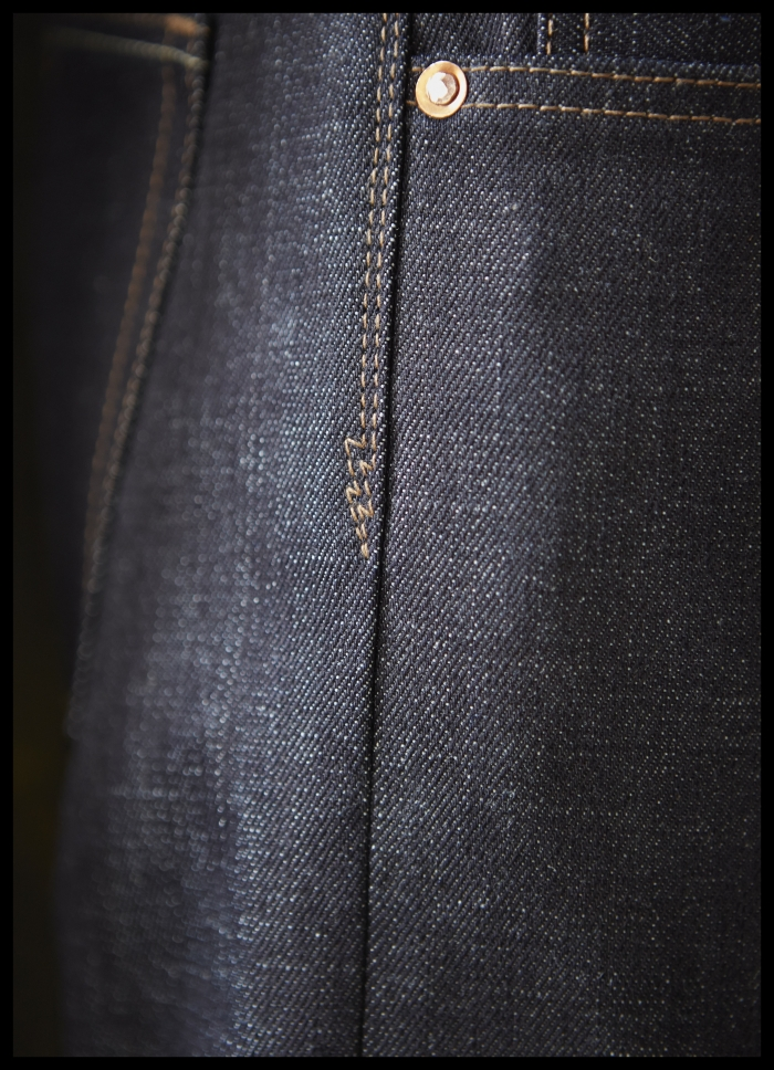 tsy the selvedge yard norman porter denim jean lightning bolt