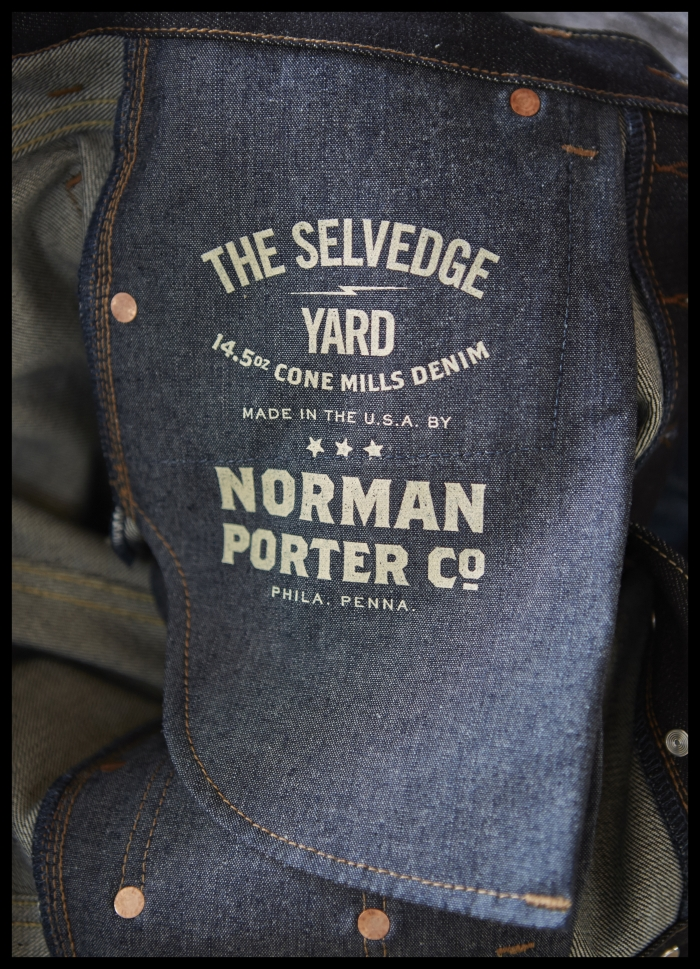 TSY the selvedge yard norman porter denim jean