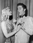 Irish McCalla Playfully Threatening Elvis Presley
