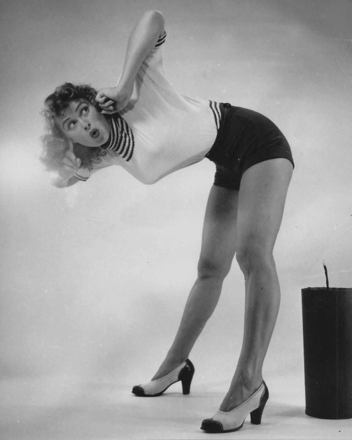 irish mccalla pinup legs chest