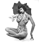 irish mccalla pinup swimsuit umbrella