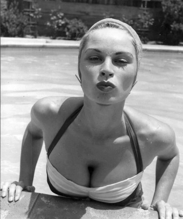 irish mccalla swimsuit model pinup kiss cleavage breasts