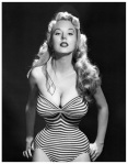 betty brosmer stripe swimsuit