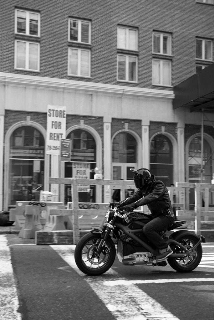 TSY THE SELVEDGE YARD HARLEY-DAVIDSON LIVE WIRE MOTORCYCLE RIDE NYC BW