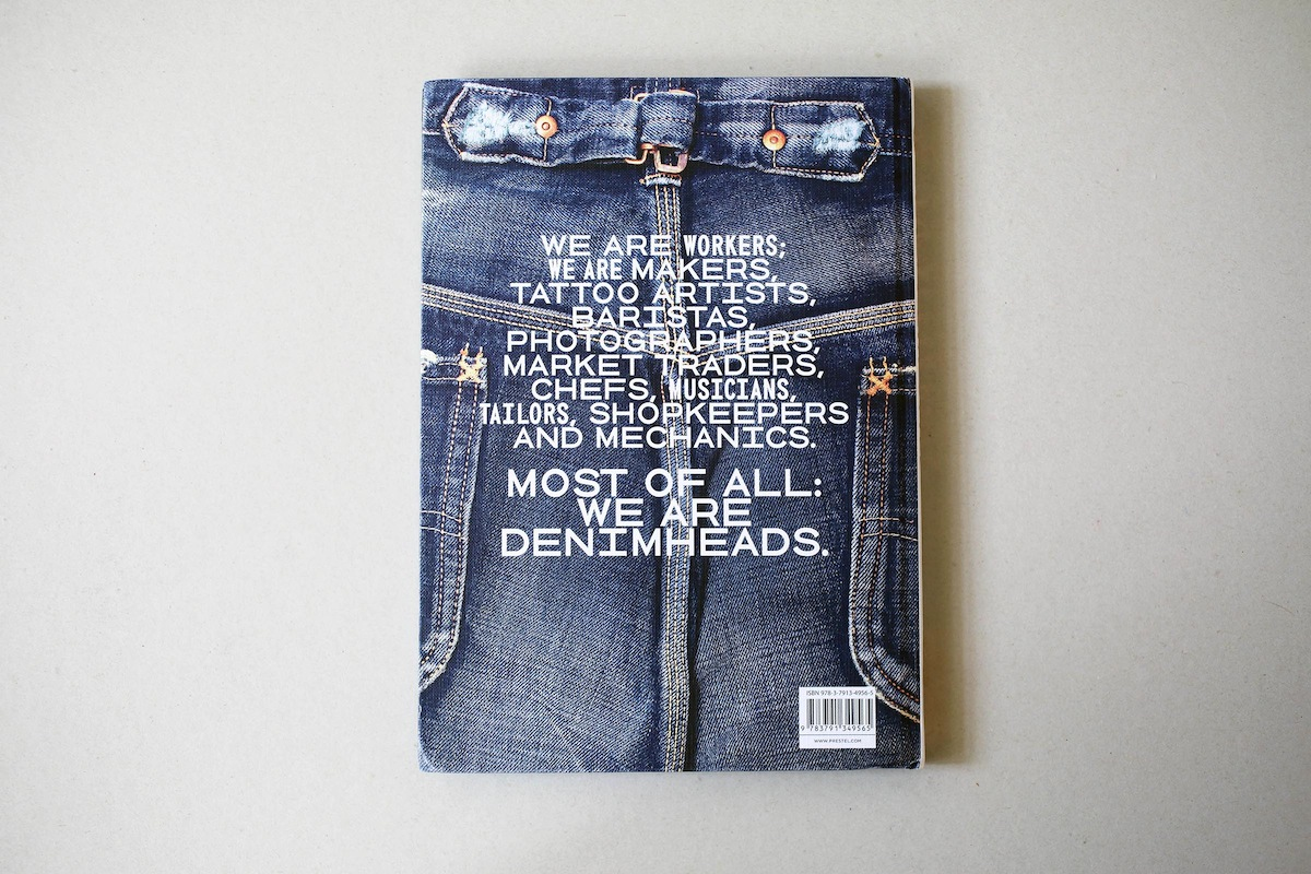 Fashion Book Cover ~ Horst friedrichs denim style book back cover the
