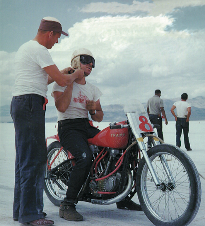 GEORGE SMITH S&S HARLEY TRAMP BONNEVILLE
