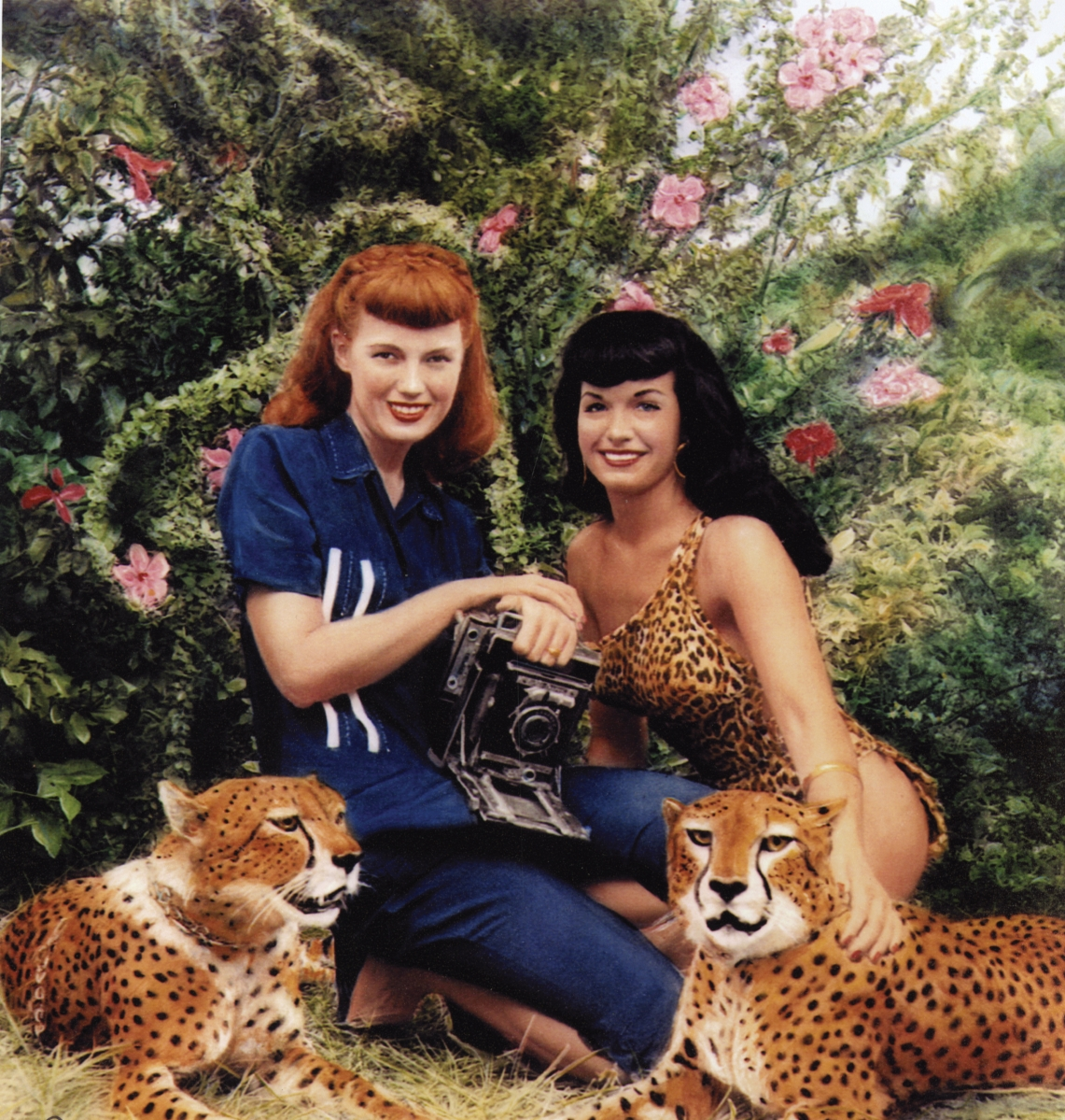 Bettie Page bunny yeager cheetah jungle land _p001