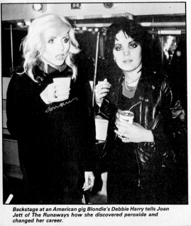 blondie debbie harry joan jett runaways clipping