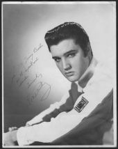 elvis signed photo irving berlin white Christmas