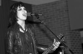 joan jett runaways leather jacket guitar