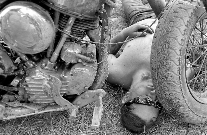 pulsating paula 1970s 1980s harley sleeping biker