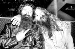 pulsating paula 1970s 1980s long hair bearded harley bikers flipping bird