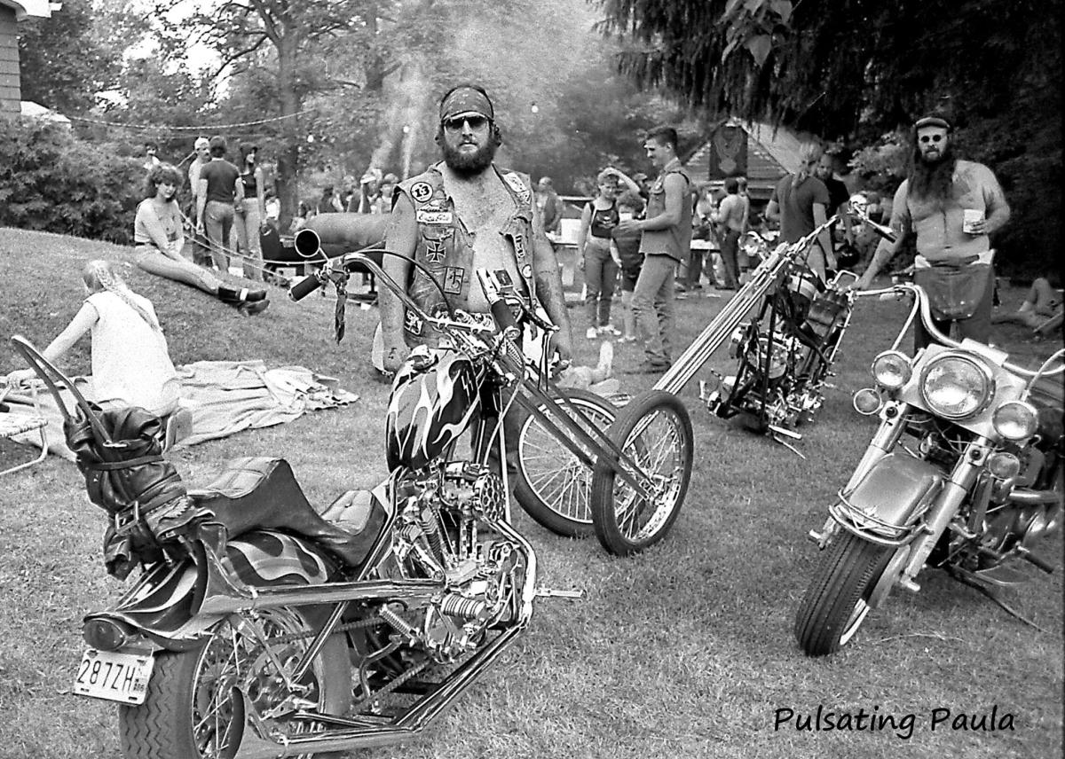 pulsating paula 1970s 1980s mc harley chopper camp
