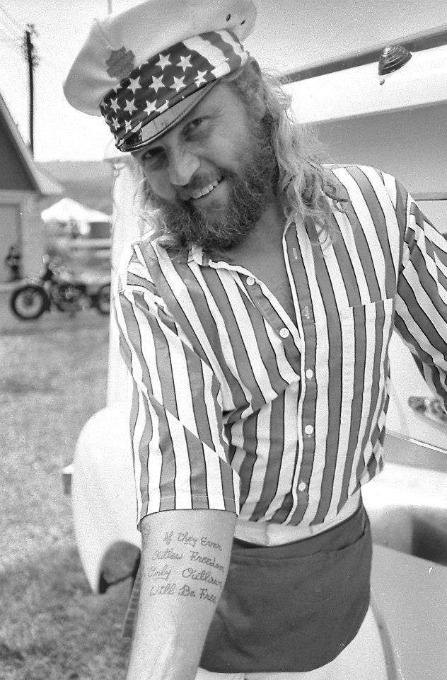 pulsating paula 1970s 1980s patriotic biker