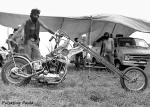 pulsating paula 1980s chopper van tent biker harley