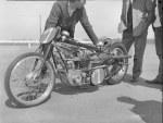 Early Hagon Triumph motorcycle DCS1 (Dennis Allen)