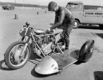 Frank (or perhaps Neville) Barham V Twin JAP Mild Thing Sprinter motorcycle