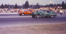 alan green drag racer chevy II nova fastback