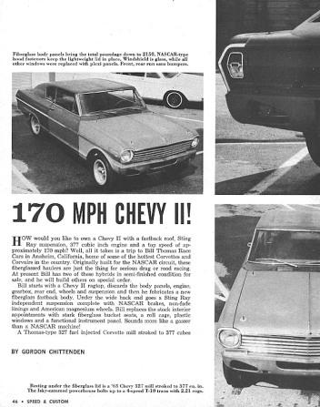 Bill Thomas Chevrolet Chevy II Fastback