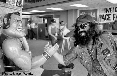 PULSATING PAULA DAYTONA BEACH BIKE WEEK BIKER VEST 1980S