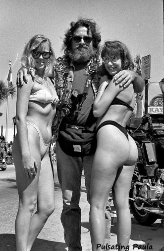 PULSATING PAULA DAYTONA BEACH BIKE WEEK BIKINI BIKER BABES 1980S