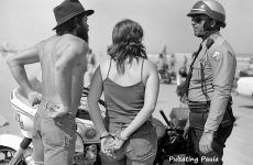 PULSATING PAULA DAYTONA BEACH BIKE WEEK COP ARREST BIKER MOTORCYCLE 1980S
